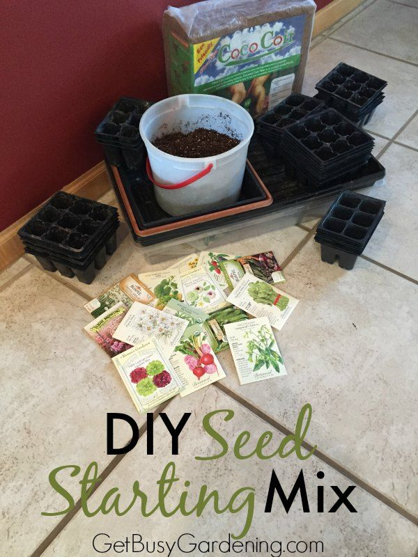 Save money and make the best seed starting mix for growing seeds! Here's my easy recipe and instructions for how to make your own seed starting mix.