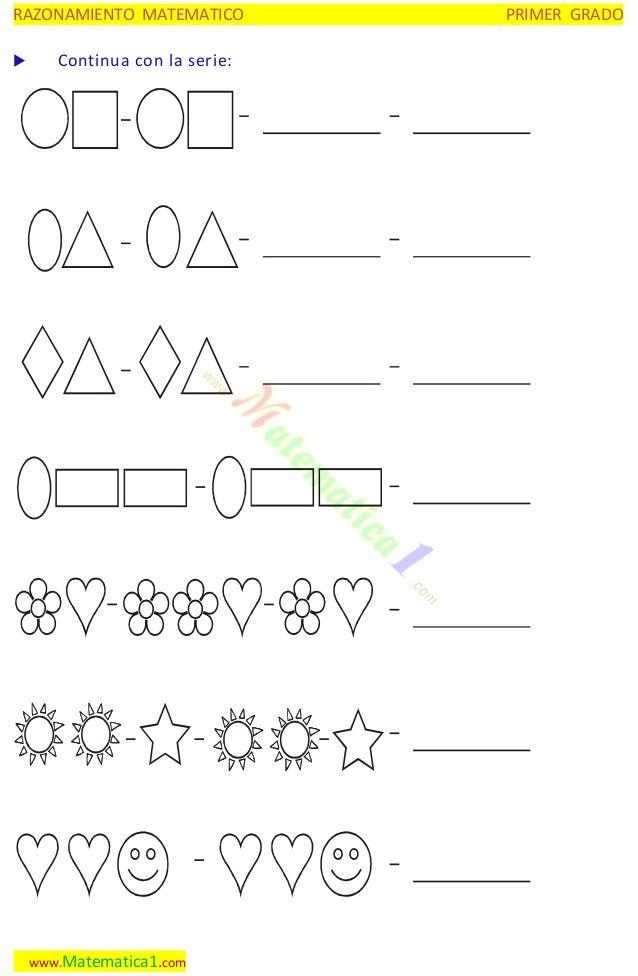 secuencias de figuras geometricas para completar - Buscar con Google