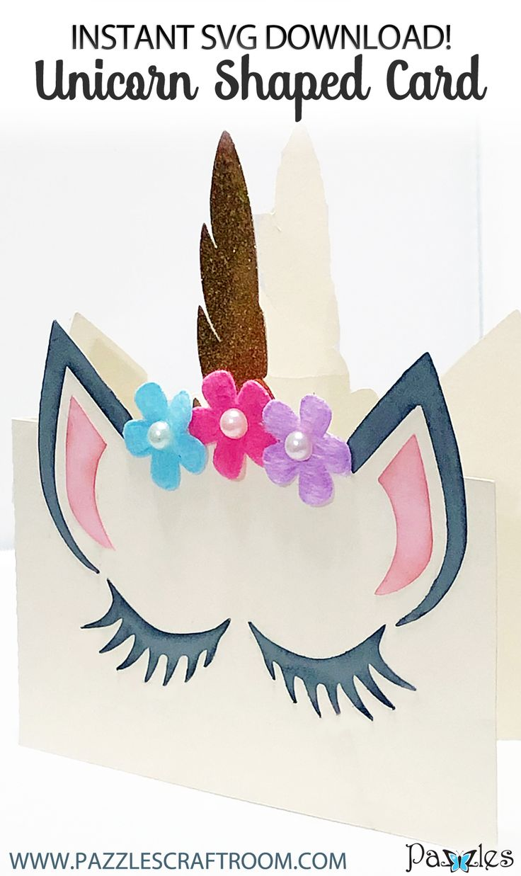 diy shaped unicorn card  make for your party with instant