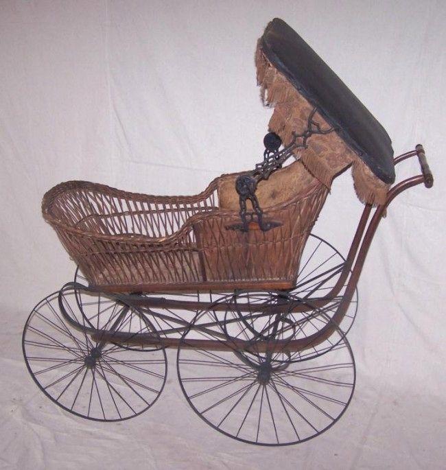 Victorian Wicker Baby Buggy