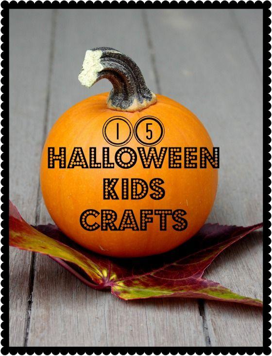 Second Chance to Dream: 15 Halloween Kids Crafts: Halloween Kids Crafts, Crafts Ideas, Halloween Kid Crafts, Halloween Crafts, Kids Halloween, 15 Halloween, Second Chances, Fall Kids, Halloween Ideas