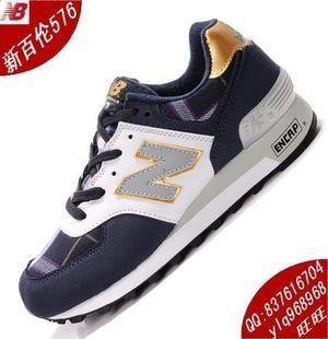 2013 New Balance 576 zapatos de los hombres 576 versión coreana de zapatos deportivos de tela escocesa