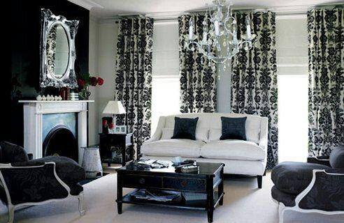 Damask living room