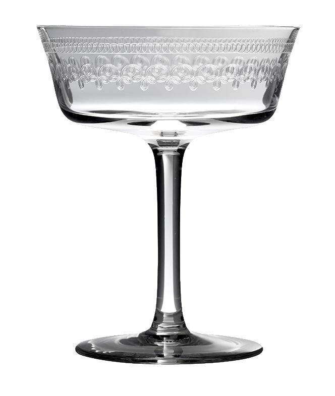 Retro Shallow Fizz Glass 1910