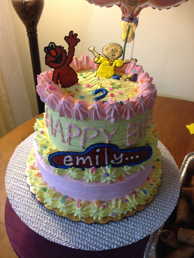 11 best caillou party images on Pinterest Anniversary cakes