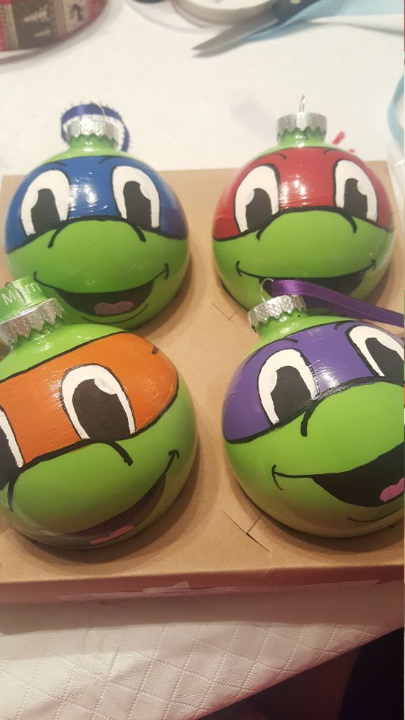 Check out this item in my Etsy shop https://www.etsy.com/listing/476006606/ninja-turtle-ornaments