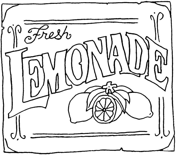 lemonade clipart black and white - photo #11