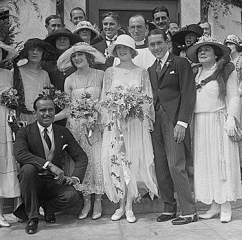 Douglas Fairbanks and Mary Pickford Wedding; August 3, 1922