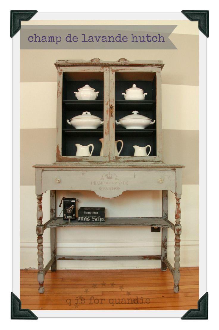 taupe tan gray beige black china cabinet junktiques. Black Bedroom Furniture Sets. Home Design Ideas