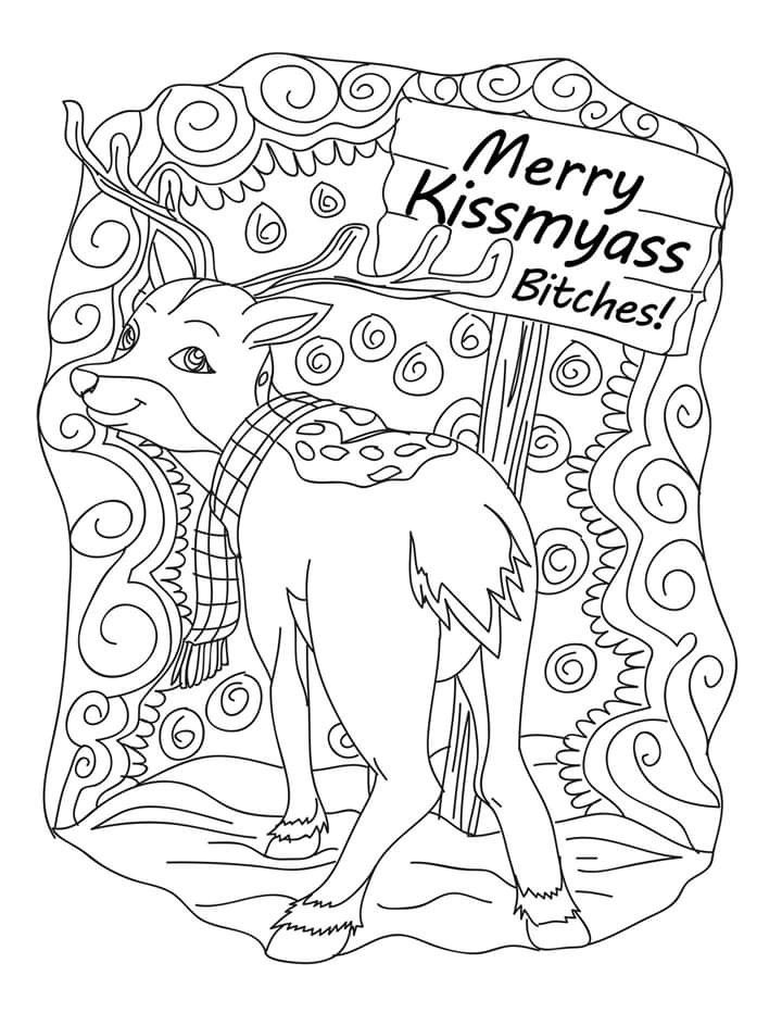 COLOR me sweary coloring pages by Valarie Ante | Fairy ...