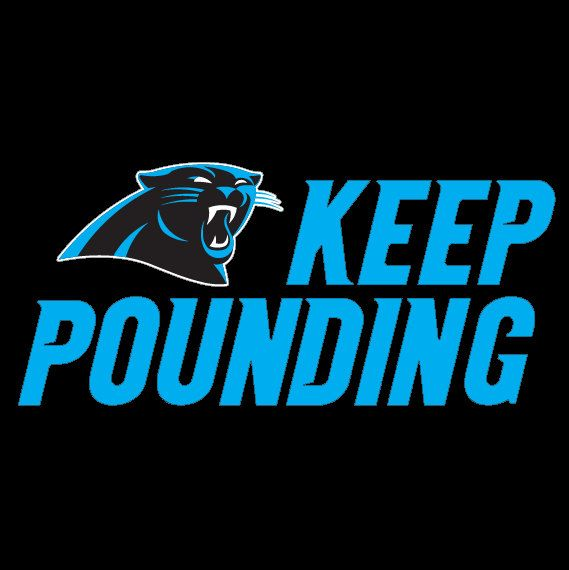 Full Color Carolina Panthers Keep Pounding by XtremeTotalGraphiX