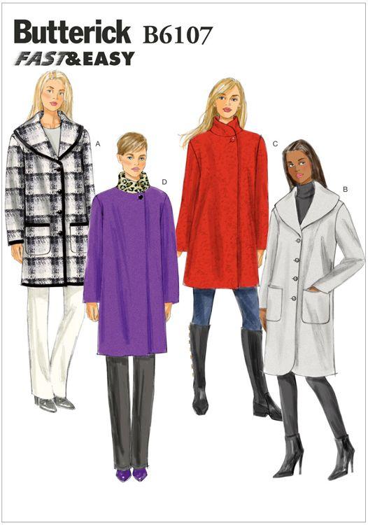 Misses Coat Butterick Pattern 6107.