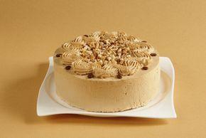 Kávový dort s ořechy