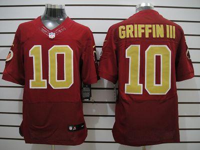 Nike Redskins #10 Robert Griffin III 80th Anniversary Throwback Mens NFL Elite Jersey