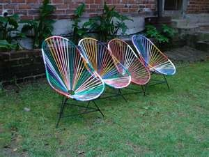 Wire lounge chairsLounges Chairs, Furniture Inspiration, Colours Acapulco, Wire Lounges, Sillas Acapulco, Acapulco Chairs, Lounge Chairs, Acapulco Bi