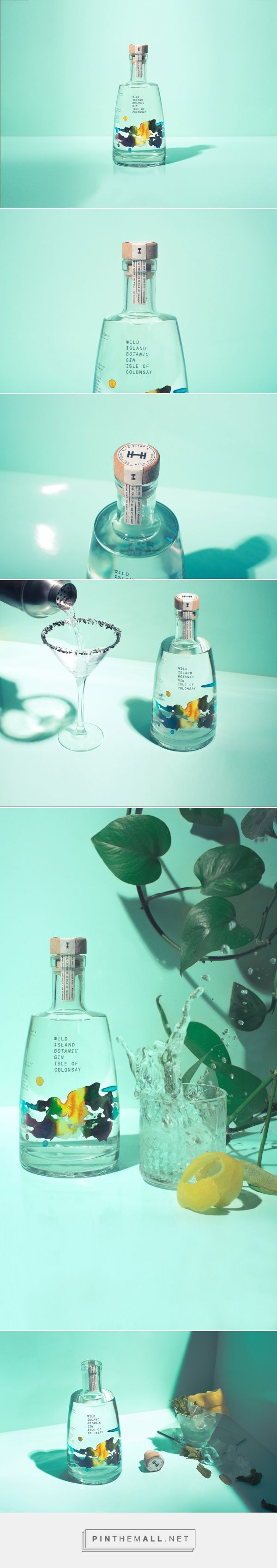 Wild Island - Botanical #Gin packaging design by Thirst - http://www.packagingoftheworld.com/2017/05/wild-island-botanical-gin.html