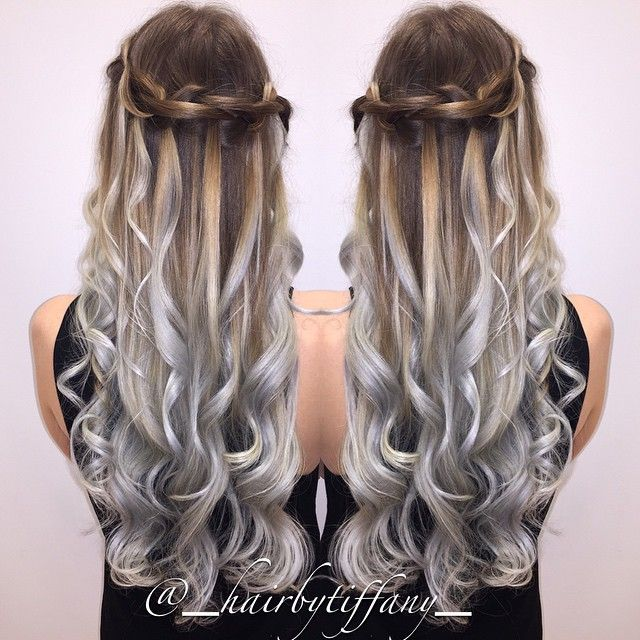 long haired brown and grey ombre google search hair. Black Bedroom Furniture Sets. Home Design Ideas