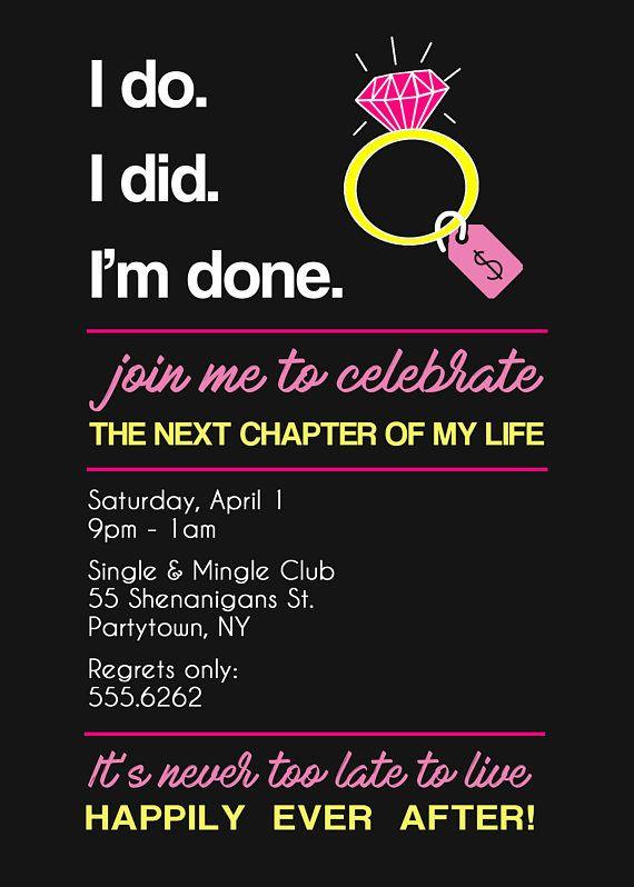Printable Divorce Party Invitation
