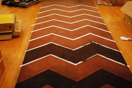 How To: Make the Perfect Chevron Stripes every time from Apartment Therapy