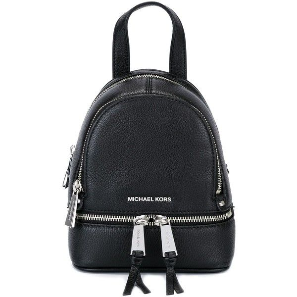 38ef0f37524 ... studded backpack 3ba13 63965 australia michael michael kors rhea zip  mini backpack 205 liked on polyvore featuring bags 27119 023d6 ...