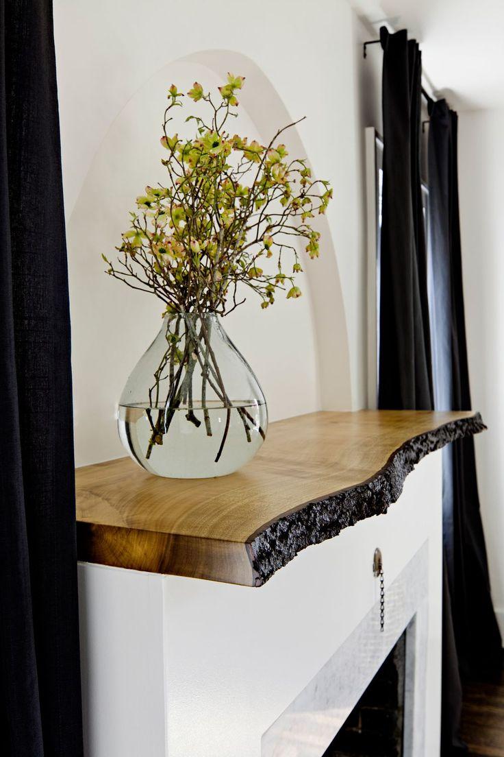 diy mantel shelf for brick fireplace