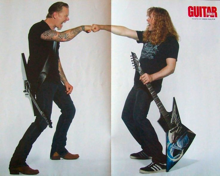"James Hetfield and Dave Mustaine by Ross Halfin for ""Guitar World"""
