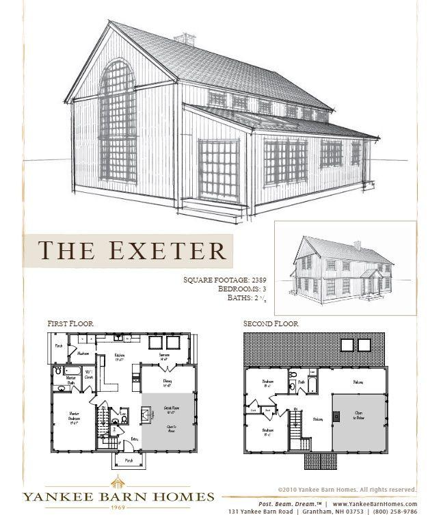 Sawyer Farmhouse Barn House Plans Floor Plans Barn Homes Floor