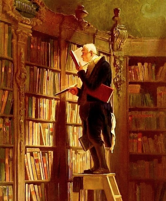 Readers reading #2 Carl Spitzweg – The Bookworm – 1850 – Museum Georg Schafer, Schweinfurt, German. Ahh …. I'm envious. But just don't step backwards!