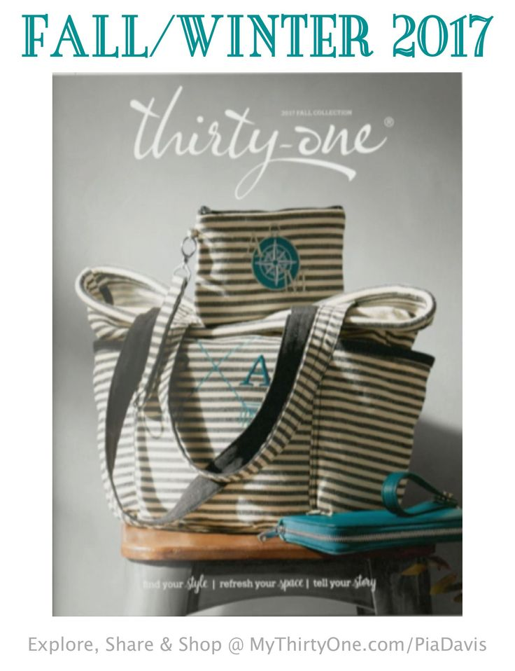 NEW 2017 Fall/Winter Catalog is on it's way! Check it out online August 1st at MyThirtyOne.com/PiaDavis