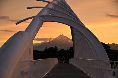 Stunning sunset over Riwa Riwa Foot Bridge in NZ - image taken by Bird Woman