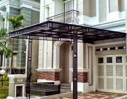 Desain Kanopi Rumah Minimalis Besi