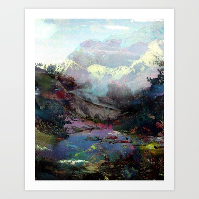 Untitled (Landscape) 20120809q Art Print by Tchmo