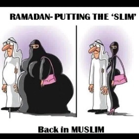 ..LOL Ok, but seriously it usually ends up the other way around after Ramadhan! :)