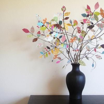 Scrap Paper Tree Centerpiece {Centerpiece Ideas}
