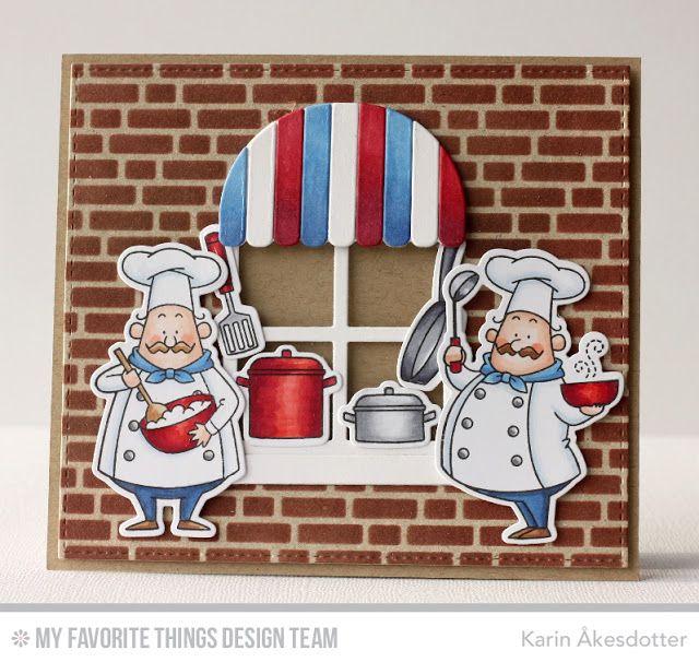 Recipe for Happiness, Boutique Window Die-namics, Blueprints 25 Die-namics, Recipe for Happiness Die-namics, English Brick Wall Stencil - Karin Åkesdotter   #mftstamps