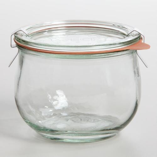 One of my favorite discoveries at WorldMarket.com: 1/2 Liter Glass Weck Jar