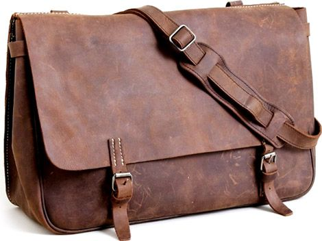 J. Crew Artisan Leather Messenger Bag on http://www.gearculture.com