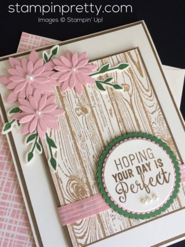 Vintage & shabby chic birthday card ideas using Suite Sentiments.  Mary Fish, Stampin' Up! Demonstrator.  1000+ StampinUp & SUO card ideas.  Read more https://stampinpretty.com/2017/02/sweet-rustic-birthday-card.html