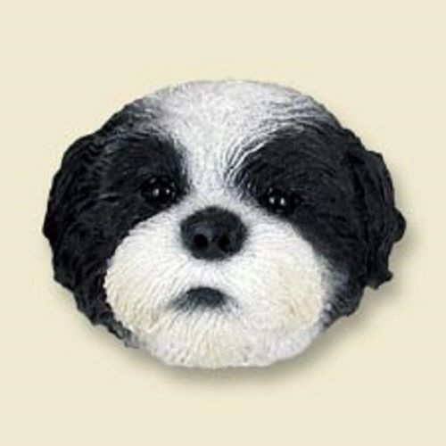 Shih Tzu Black & White with Sport Cut Magnet