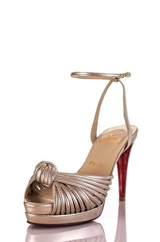 Pre-owned Christian Louboutin platform sandals   OWN THE COUTURE   Canada's luxury designer consignment online boutique