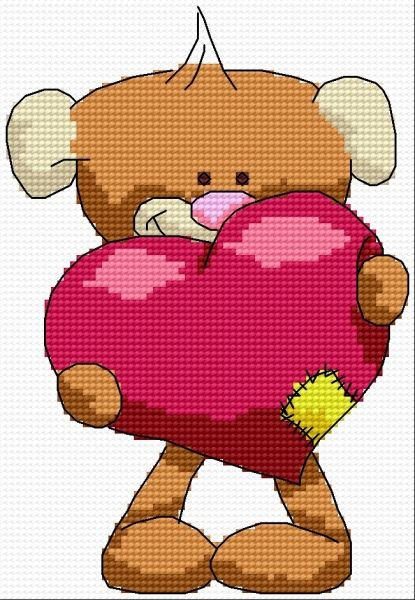 Heart for you (cushion, for children, teddy, toy, love)