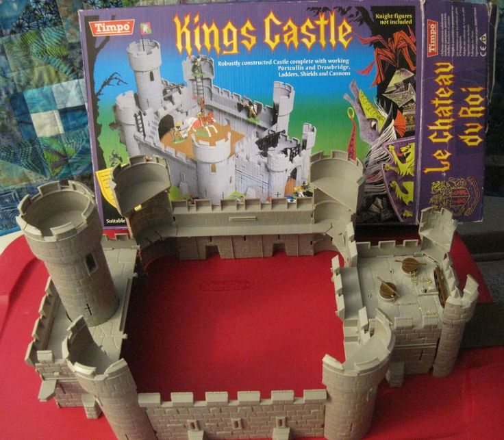 TIMPO TOYWAY KING'S CASTLE WITH BOX IDEAL TOYS KNIGHTS 60MM PLASTIC TOY SOLDIER #TIMPOTOYWAYIDEALTOYS