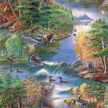 Quilting Treasures James Meger Lakeside Scenic Quilting
