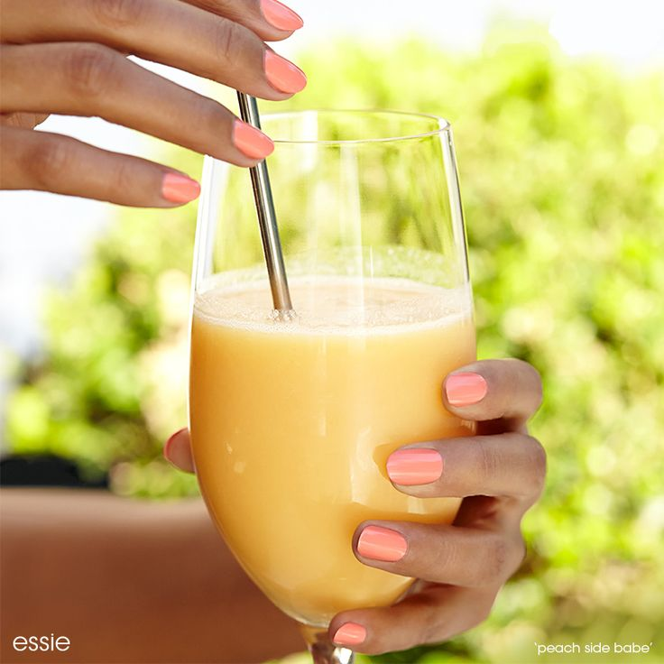 Summer is all about taking it easy with essie! Slow it down and take a vacation with a lovely 'peach side babe' manicure.