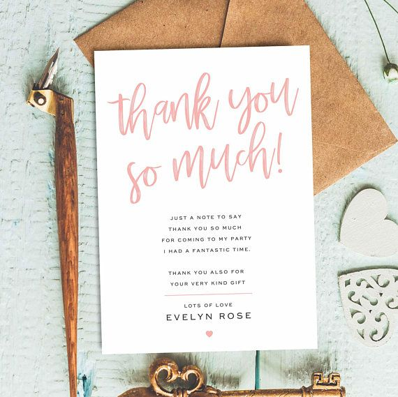 Thank You Cards Personalised Sweet 16 Thank You Card First