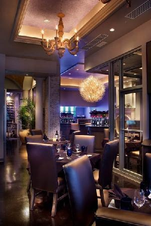 Cuvee wine upscale restaurant in ocala cove lighting