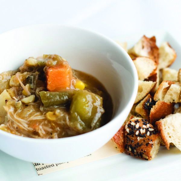 Harvest's Burgoo. Recipe from Chef Coby Lee Ming Of Harvest Restaurant, Louisville, KY. Photo by Andrew Hyslop.