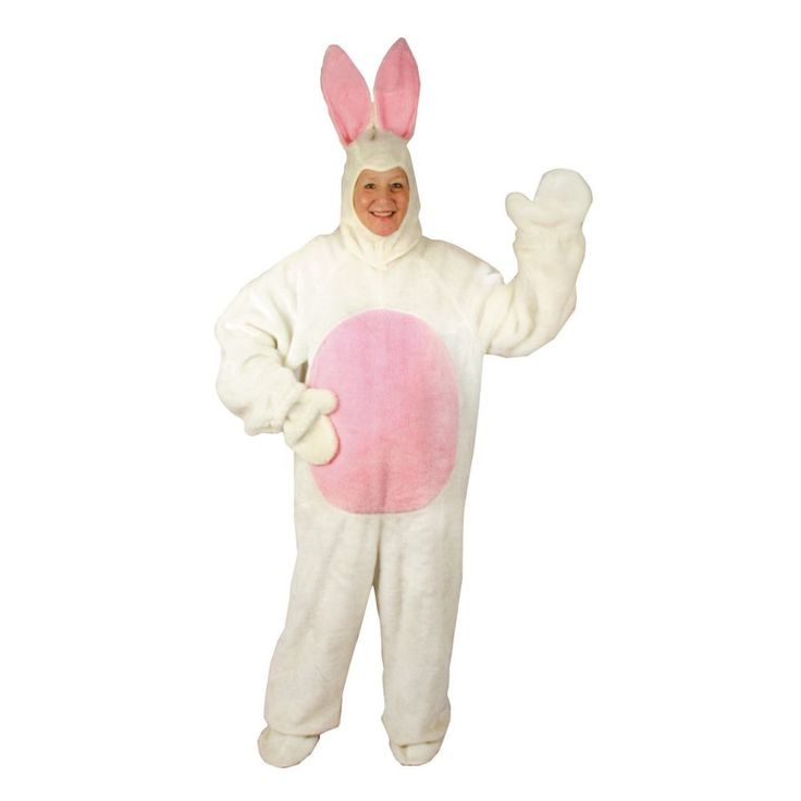 White Easter Bunny Halloween Costume for Adults - X-Large
