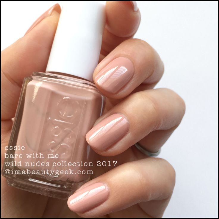 Essie Bare With Me _ Essie Wild Nudes 2017 Collection Swatches Review