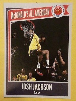 JOSH JACKSON 2015-16 McDonalds all American  CUSTOM KANSAS RC 2017 NBA draft pic